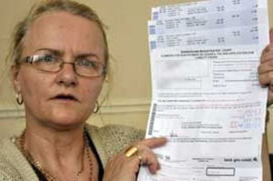 Sylvia Lichfield with her Court Summons. Source: Birminghammail.co.uk